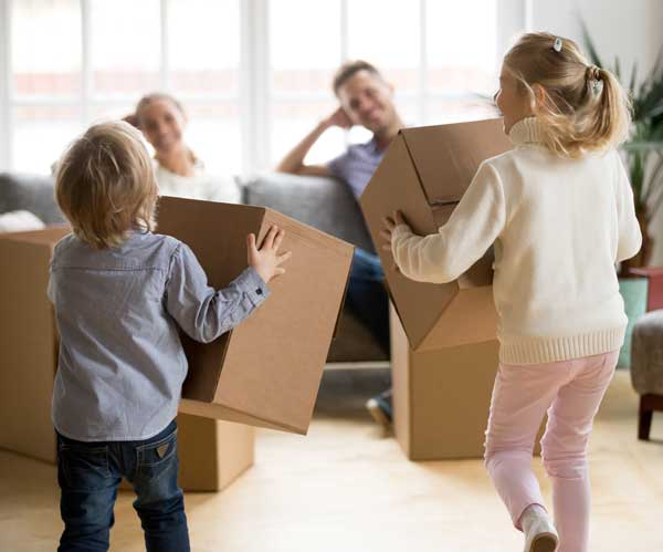Mr Move Children Playing with Boxes